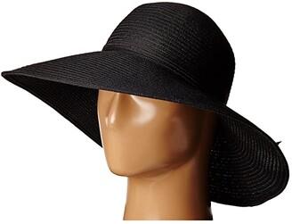 San Diego Hat Company MXL1017 Round Crown Floppy with Braided Self Tie (Black) Caps