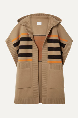 Burberry Wool-blend Jacquard Cape - Sand