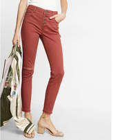 Express high waisted button fly stretch ankle leggings