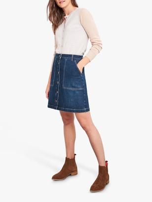 White Stuff Canterbury Denim Skirt, Blue
