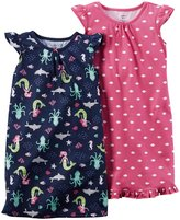 Carter's 2 Pack Gowns (Toddler/Kid) - Multicolor - 4-5