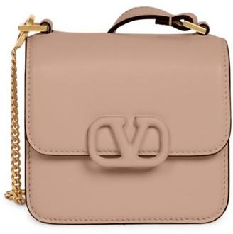 Valentino Micro VSling Leather Crossbody Bag