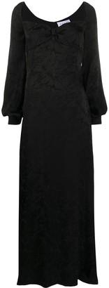 NERVI Pat floor-length brocade evening gown