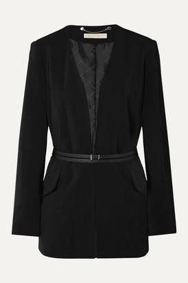 MICHAEL Michael Kors Belted Crepe Blazer - Black