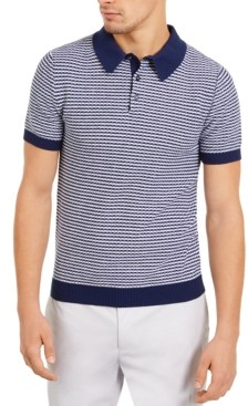 Paisley & Gray Men's Slim-Fit Skinny Stripe Polo Shirt