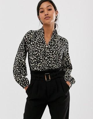 AX Paris long sleeve wrap bodysuit