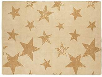 Lorena Canals Vintage Star Rug and Cushion (Mustard)