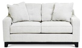 """Darby Home Co Burbach 62"""" Square Arm Loveseat Fabric: Light Gray"""