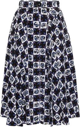 Emilio Pucci Printed Silk Crepe De Chine Skirt