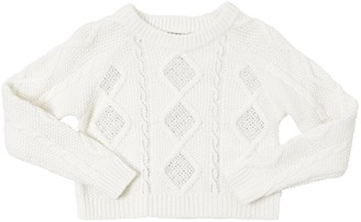 Ermanno Scervino Embellished Viscose Blend Knit Sweater