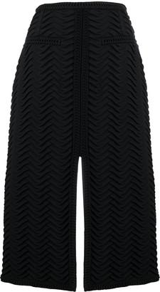 Marco De Vincenzo Front-Slit Midi Skirt