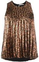 Christopher Kane pleated sleeveless top - women - Silk/Polyester - 38