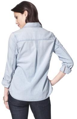 Merona Women's Denim Shirt w/Box Pleat - Assorted Colors