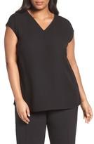 Lafayette 148 New York Plus Size Women's Bryson Silk Blouse