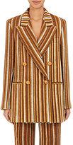 Acne Studios Women's Jara Striped Cotton Double-Breasted Jacket