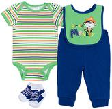 Cutie Pie Baby Green Stripe Bodysuit & Pants Set - Infant