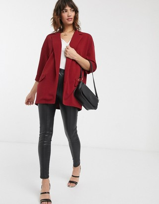 Asos Design DESIGN easy relaxed blazer in textured jersey