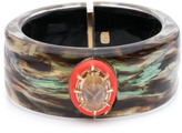 Alexis Bittar Wood Grain Hinge Bracelet