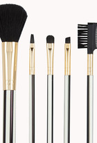 Forever 21 Striped Cosmetic Brush Set