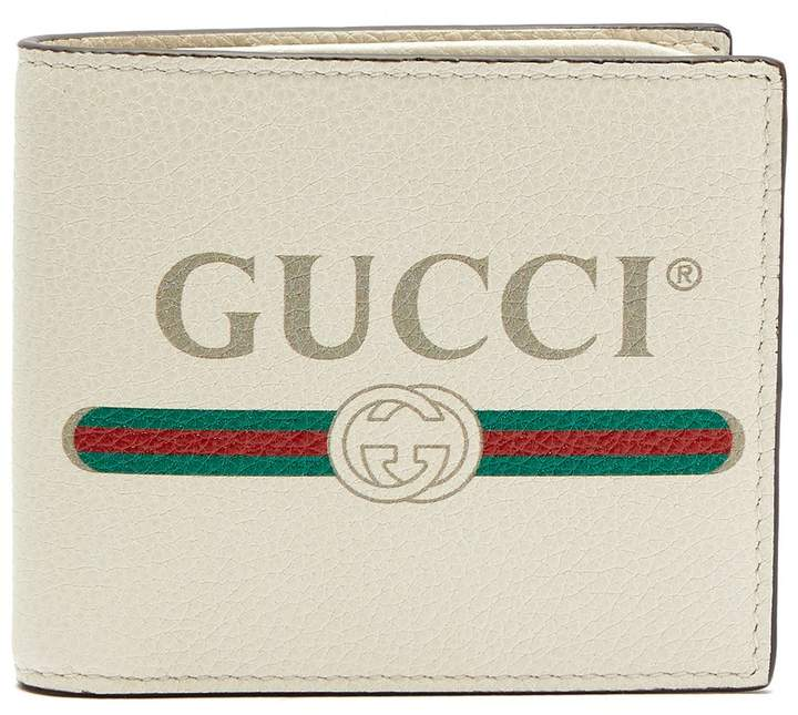Gucci Logo-print leather bi-fold wallet