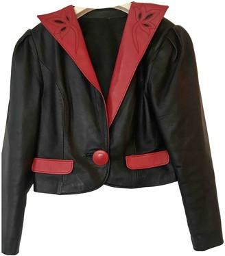 Non Signã© / Unsigned Manche ballon Black Leather Jackets