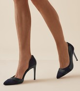 Reiss Augusta - Point Toe Court Shoes in Navy