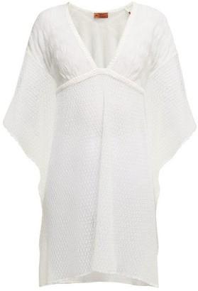 Missoni Mare - Metallic Crochet Knit Kaftan - Womens - White