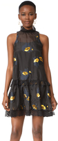 Cynthia Rowley Metallic Floral Night Dress