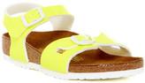 Birkenstock Rio Neon Yellow Sandal (Toddler & Little Kid)