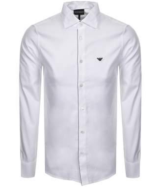 Giorgio Armani Emporio Long Sleeved Logo Shirt White