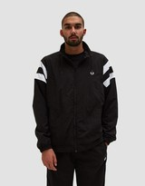 Fred Perry Monochrome Tennis Jacket in Black