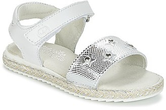 Citrouille et Compagnie ILEVANDOK girls's Sandals in White