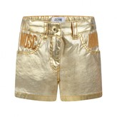 Moschino MoschinoGirls Gold Branded Shorts