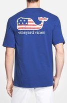 Vineyard Vines Men's 'American Flag Whale' Graphic T-Shirt