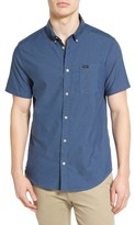 RVCA Men's 'That'Ll Do' Slim Fit Short Sleeve Oxford Shirt
