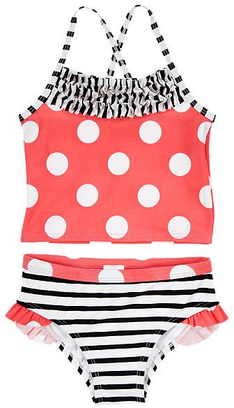 Gymboree Dot Striped Two-Piece Swimsuit