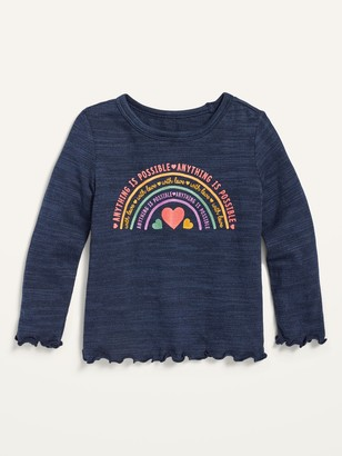 Old Navy Graphic Cozy Plush-Knit Long-Sleeve Top for Toddler Girls