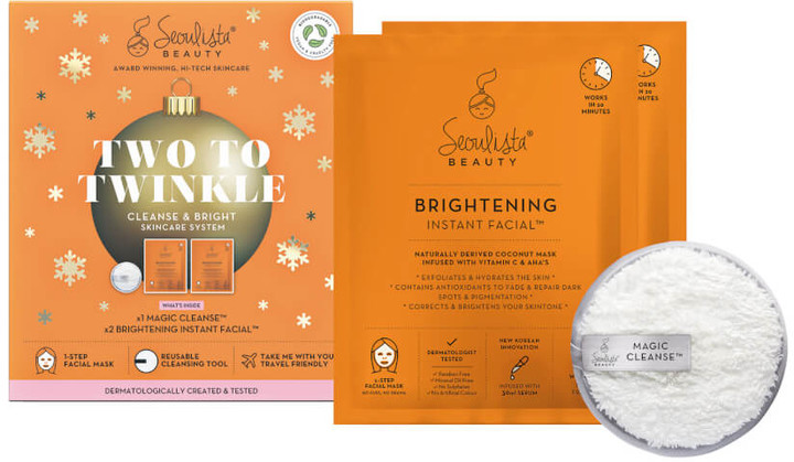 Seoulista Beauty Two to Twinkle Cleanse and Brighten Christmas Pack (Worth 21.00)