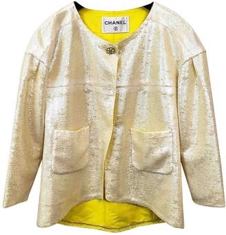 Chanel Yellow Glitter Jacket for Women