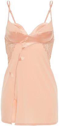 La Perla Lace, Satin And Stretch-silk Georgette Chemise