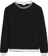 Tomas Maier Mesh-trimmed Stretch-knit Top - Black