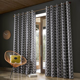 Orla Kiely Linear Stem Eyelet Curtains - Charcoal - 117x183cm