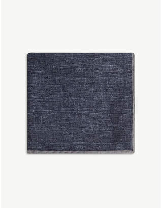Wool and cotton pocket square