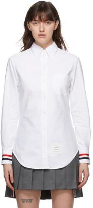 Thom Browne Online Exclusive White RWB Stripe Classic Oxford Shirt