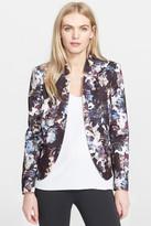 Helene Berman Camo Print Notch Collar Jacket