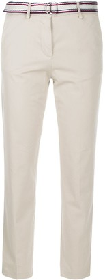 Tommy Hilfiger Belted Slim-Fit Trousers