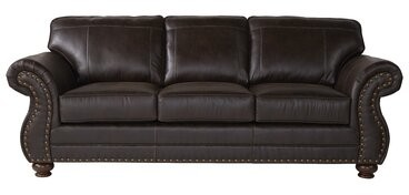 """Thumbnail for your product : Alcott Hill Tariq 91"""" Round Arm Sofa with Reversible Cushions Upholstery Color: Ridgeline Brownie"""