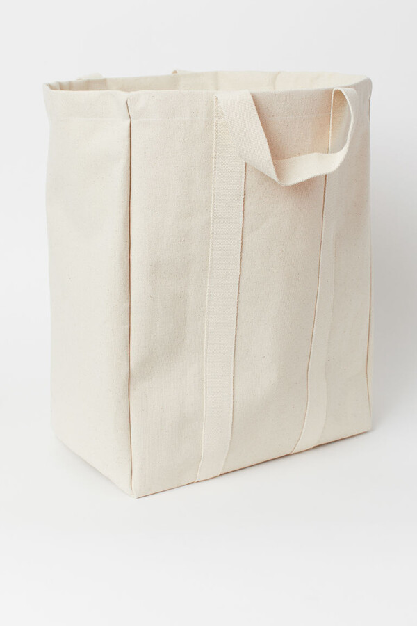H&M - Canvas Laundry Bag - White