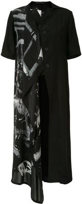 Yohji Yamamoto Silk Asymmetric Midi Dress