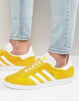 Adidas Originals Gazelle Trainers In Yellow Bb5479